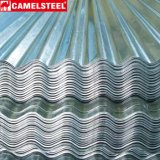 Folha ondulada da telhadura do zinco do material de construção