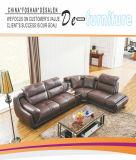 Qualitäts-ledernes Sofa, Sofa mit Ecke, Fabrik-Preis (M0406-3)