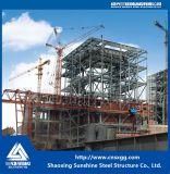 発電所の鉄骨構造