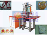 El doble dirige la soldadora de alta frecuencia de la ropa impermeable