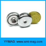 Ensemble magnétique à aimant à pot de maintien de néodyme avec trou