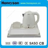 Hotel 0.8-1.2L Hervidor de agua eléctrico inoxidable con bandeja de bienvenida