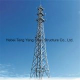 Torre de antena tubular de acero de la telecomunicación de poste para en ultramar