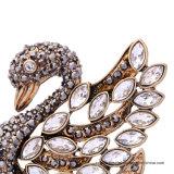 方法個々のデザイン美しい白鳥の宝石類の結婚式のラインストーンのブローチ