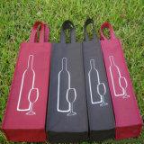sac à provisions non tissé non tissé de sac du vin 80GSM