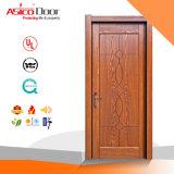 Твердая нутряная деревянная дверь безопасности с высоким качеством (стандарт ISO9001)