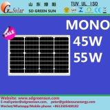 mono módulo solar de 18V 45W 55W (2017)