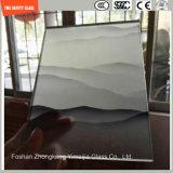 Geada e divisória de vidro Tempered da seleção de seda para o hotel