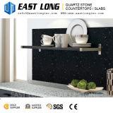 Surface Polished noire pour des partie supérieure du comptoir avec le quartz artificiel
