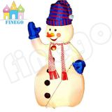 Oxford che copre la decorazione gonfiabile dell'uomo della neve di natale