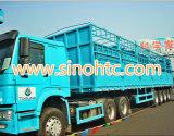 4 ejes semi remolque, carga a granel remolque contenedor