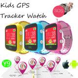 """1.44 """" 다채로운 스크린 (Y9)를 가진 안전 시계가 장치를 추적하는 GPS에 의하여 농담을 한다"""