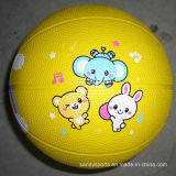 Eco-Friendly Factory Preço barato Preço baixo Colorful Toy Rubber Basketball