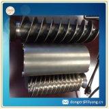 Eje de rotación del eje del acero de forja, eje de acero forjado, eje que trabaja a máquina del CNC