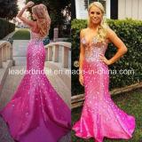 Vestido de noite de cristal E1522 da sereia de Vestidos do vestido do partido do baile de finalistas
