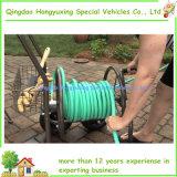 Chariot à quatre roues de bobine de boyau de jardin de pente résidentielle de la capacité 250-Foot-Hose
