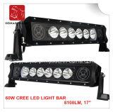 Wholesae 60W 6000k는 SUV 4X4 트럭을%s 도로 LED 표시등 막대 떨어져 줄 반점 LED를 골라낸다