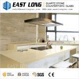 Brames en pierre de pétillement beiges de quartz en gros pour des partie supérieure du comptoir de cuisine