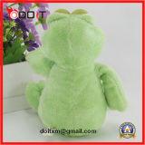 Большая игрушка плюша заполненного животного зеленой лягушки глаз