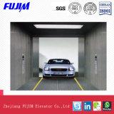elevador do carro de 5000kg Vvvf com o piso de aço inoxidável