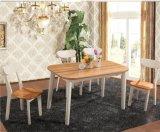 Mobiliário de mobiliário simples moderno Solidwood Mesa de jantar e conjunto de cadeiras