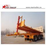 3 Semi Aanhangwagen van de Kipper van de Container van de as Flatbed