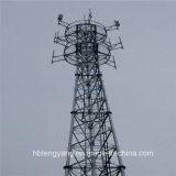 35m гальванизировали башню телекоммуникаций триангулярной решетки стальную