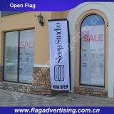 Bandierina 100% di spiaggia su ordinazione del poliestere di MOQ 1PC, bandierina del basamento, facente pubblicità alla bandierina