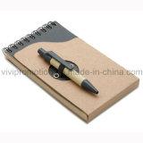 Mini taccuino a spirale Pocket popolare con la penna di carta riciclata (PNB082A)