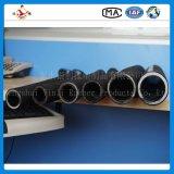 Tubo flessibile di gomma idraulico intrecciato e sviluppato a spiraleare del filo di acciaio ad alta pressione