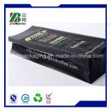 sac latéral noir mat de sachet en matière plastique de café de gousset de papier d'aluminium de 250g 500g 1kg 2kg