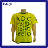 Hombre Color Amarillo Personalizadas Camiseta promocional