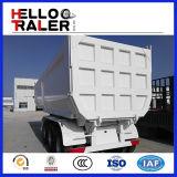 Tri Axle 60 Ton U Shape Hydraulic Dump Trailer trasero