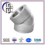 Cuerda de rosca de la fuente de la fábrica que ajusta el codo del acero inoxidable de 45 grados