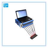 Analyseur de batterie des 8 Manche avec l'ordinateur portatif et le logiciel