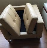 Ganascia beige del sofà di Seater di rifugio dell'ufficio singola (FOH-SS01)