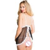 Оптовый эротичный шнурок V-Шеи женское бельё одевает Sleepwear повелительниц сексуальный