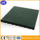 Étage en caoutchouc durable de cour de jeu de gymnastique de couleur verte de prix usine