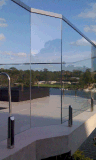 발코니 테라스를 위한 안전 지면 마운트 스테인리스 Frameless 강한 유리제 난간