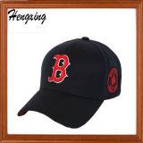 Kundenspezifische Stickerei-Baumwolle 100% 6 Panel-Baseballmützen