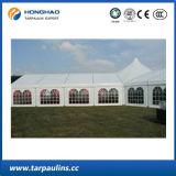 Barraca ao ar livre luxuosa do PVC da exposição do banquete de casamento do evento do telhado da tela