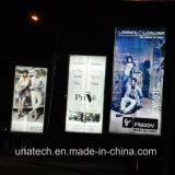 Anunciando o poster ao ar livre Alu da película da bandeira do cabo flexível. Caixa do luminoso do diodo emissor de luz de Scroller do frame
