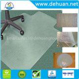 オフィス製品PVCインチのためのプラスチック椅子のマット長方形堅い床、45のx 53の下机のためのリップと