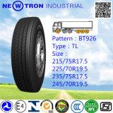 Neumático radial del carro de Bt926 235/75r17.5 para las ruedas del acero y del acoplado