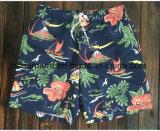 Il tessuto di Mose si imbarca sugli Shorts, Shorts della spiaggia stampati colore profondo dell'uomo