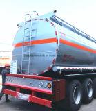 De 3 árboles del petróleo crudo del acero acoplado 40000 L pedazo semi del petrolero del combustible