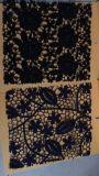 Tessuto bianco e nero del merletto del vestito da cerimonia nuziale