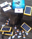 Sistema de los kits de la iluminación de la batería solar LED de la fábrica de la ISO