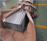 Chapa de aço ondulada galvanizada/galvanizado telhando a folha