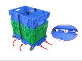 Carrinho empilhável de movimentação de plástico empilhável de mão-de-obra Trolley Hand Cart